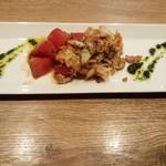 円居 - ズワイガニと焼きトマトのジェノベーゼソース