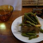 70739356 - 枝豆(ペペロンチーノ風)420円