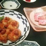 レストラン酢重正之 - 「豆腐カツの田楽」(¥710税抜)と「牛レバーのレアロースト」(¥810税抜)