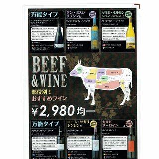 お肉にあうワインたちです!