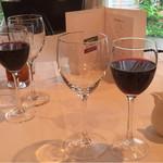 アルファーロ - 赤ワイン。冷たすぎず美味しい
