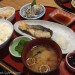 西一条 魚金 - 7月限定ランチ 旬の平政塩焼きと和風シュウマイ(580円税別)