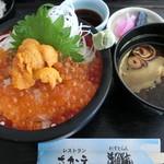 れすとらん海鮮庵 - うにイクラ丼2160円