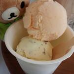 Hilo Homemade Ice Cream - 料理写真:ミントチョコ、メロン