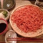 酒縁蕎亭 渉の盃 - 「トマト&一味唐辛子切り蕎麦」