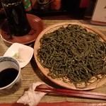 酒縁蕎亭 渉の盃 - 「ヨモギin芥子の実蕎麦」