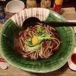 酒縁蕎亭 渉の盃 - 「かけ蕎麦(粗挽き)」