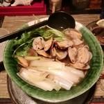 酒縁蕎亭 渉の盃 - 「鶏ガラスープ浜名湖浅利たっぷり蕎麦」
