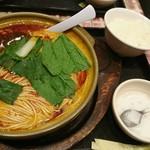 70749413 - 天然居 骨付きラム肉麺定食