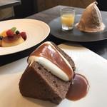レストランパトリー - 《ランチ》シフォンショコラとキャラメルソース