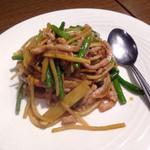 70754195 - ニンニクの芽と豚肉の細切り炒め ¥780