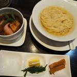 カネキッチン ヌードル - 昆布水の淡麗つけ麺900円+大盛り100円