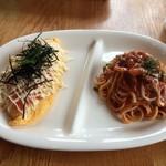 キッチンハウス ニキニキ - 和風オムライス明太子とナポリタン