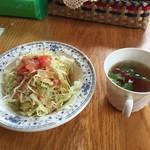 キッチンハウス ニキニキ - セットのサラダとスープ
