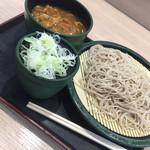 ゆで太郎 船橋南口店 - 朝定食、カレー丼と蕎麦セット(^∇^)