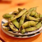 おでん&ワイン カモシヤ - 焼き枝豆