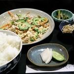 すし胡蝶 - 料理写真:ゴーヤチャンプル定食750円税込