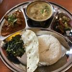 ネパール居酒屋シティマート - 料理写真:「ネパール・ランチセット」750円