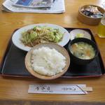 つちや - 肉野菜炒め定食