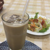 和・てーら - ドリンク写真:セット アイスブレンドコーヒー・サラダ 300円
