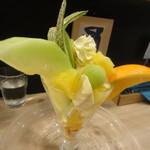 ウドン カフェ ペル - フルーツパフェ