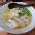 麺や七福 - 蒸し鶏のラーメン2017.07.29