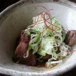 そばきり吉成 - 蕎麦汁で煮込んだ鹿すじ