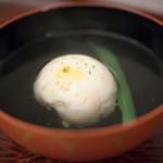 日本料理 晴山 - 2017.7 海老と玉蜀黍真薯のお椀