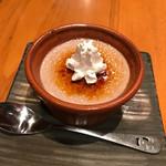 沖縄料理 馳走屋 楽 - 紅芋ブリュレ