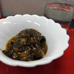 味館食堂 - 自家製 生のりとアサリ佃煮