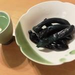 岡田の仙台長なす漬本舗 - お気に入りの杯とお皿で♪
