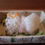 お料理 とみやま - 鯛の昆布締めアップ