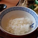 お料理 とみやま - 御飯(超少なめバージョン)アップ