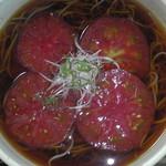 70781628 - トマト蕎麦(真上)