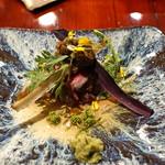 草喰 なかひがし - 北海道の野生牛のステーキ