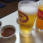 山海園 - 料理写真:ビールとツブツブオレンジ