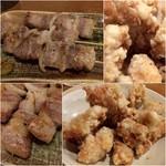 いずみ亭 - 豚串400円/ホルモン揚げ600円