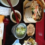 70794659 - わっぱ飯と天ぷら、香の物❗あっ❗茶碗蒸し撮るの忘れた~