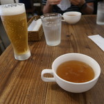 Youshokuyanakamura - スープ付きです。