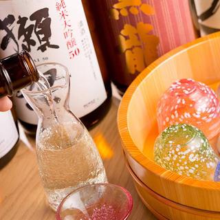 こだわりの日本酒と焼酎
