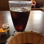 かつ雅 - かつ雅ランチAに付いてくるソフトドリンク アイスコーヒーをチョイス かつ雅はコスパ最高ですね!
