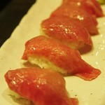 70799698 - 「炙り肉寿司」