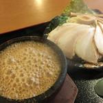 真心堂 - 濃厚とんこつ 魚介つけ麺 860円 + チャーシュー 240円 + 麺大盛り無料