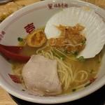 福島壱麺 - 帆立とトリュフ香る塩ラーメン-梅水晶投入