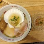 福島壱麺 - 帆立とトリュフ香る塩ラーメン&梅水晶
