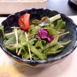 大和榛原牛 うし源 - ステーキランチのサラダ。