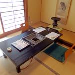 大和榛原牛 うし源 - 店内風景(和室)。