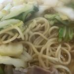 白菜タンメン楽観 - 麺アップ