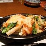 膳菜や - 鱒からあげ味噌ちゃんちゃんチーズ焼き