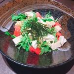 大名魚処けみほたる - 豆腐とクリームチーズサラダ